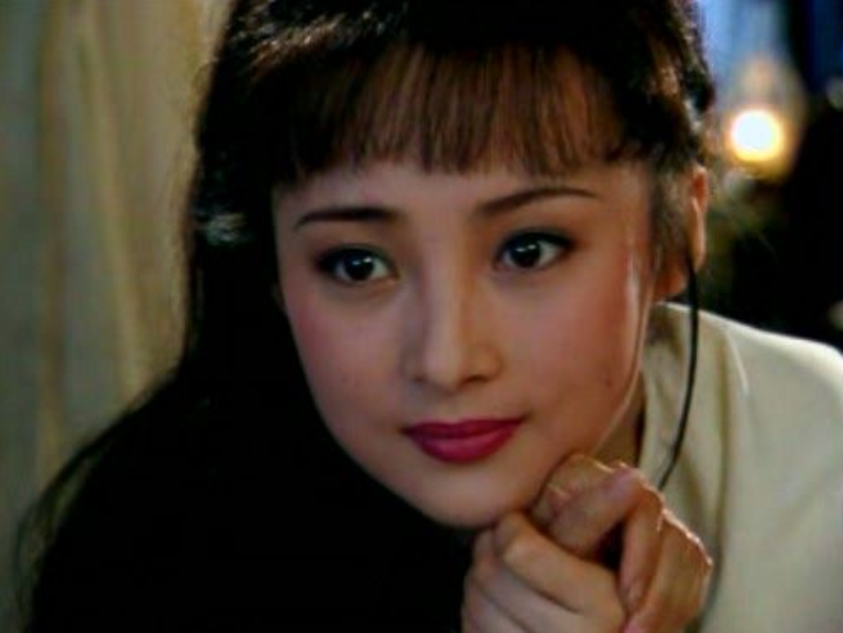 Jiang's close up in a 1998 drama