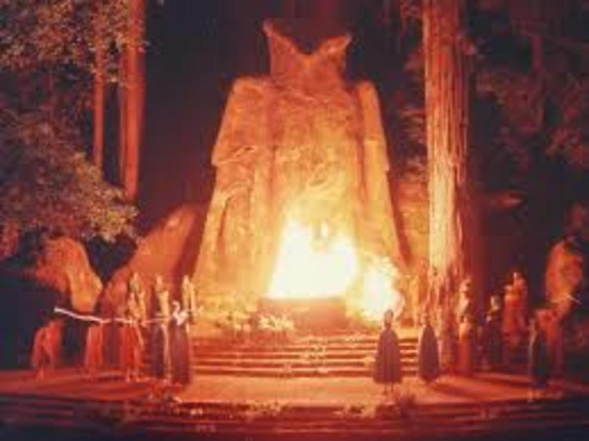 Each year, American business and political leaders convene at Bohemian grove. Many who worked there, or infiltrated reported rampant homosexuality, prostitution, and even human sacrifice. They worship Moloch, a giant owl.
