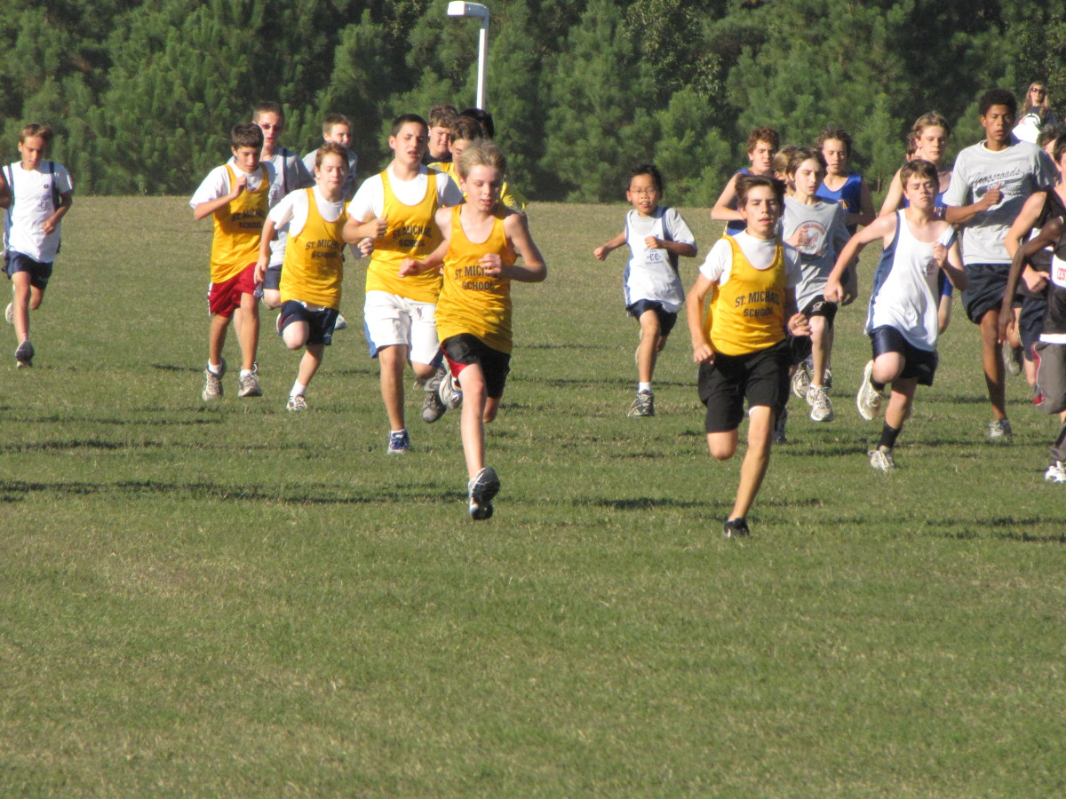 Middle school cross country race