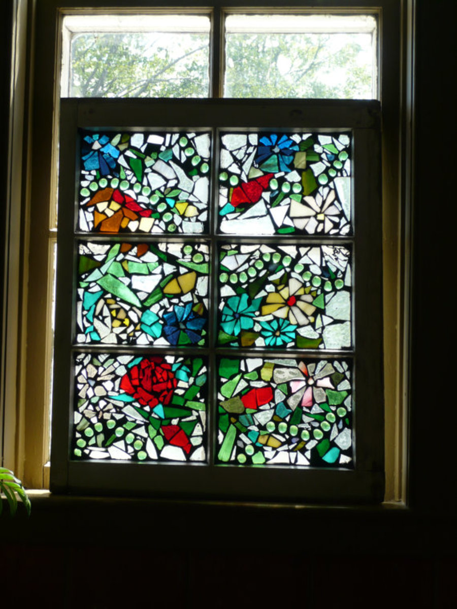 Beautiful floral Stained glass window perfect for a wedding with red rose accents. Exactly the kind of piece to seek out.