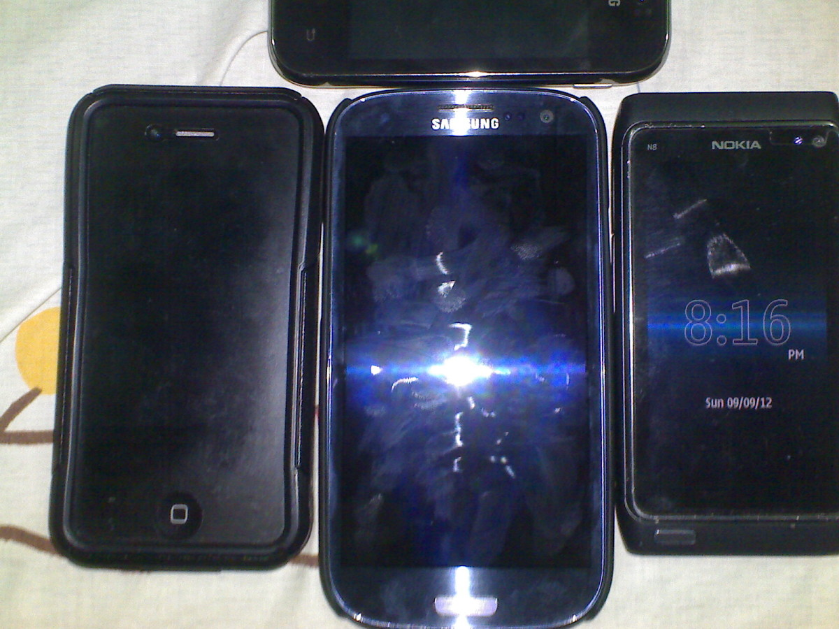The iPhone 4S The Samsung Galaxy S3 The Nokia N8