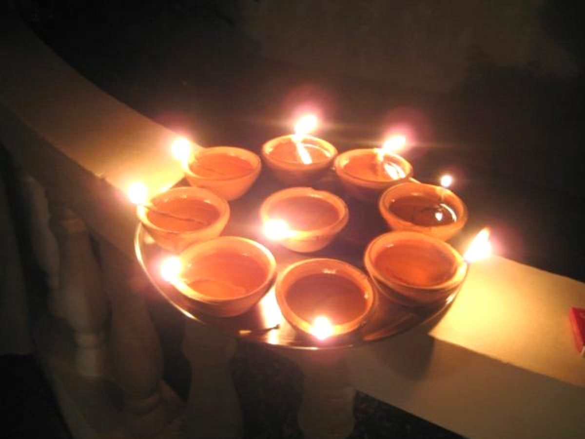 Significance / Importance of Diya (earthern lamps) in Hindu festival Diwali
