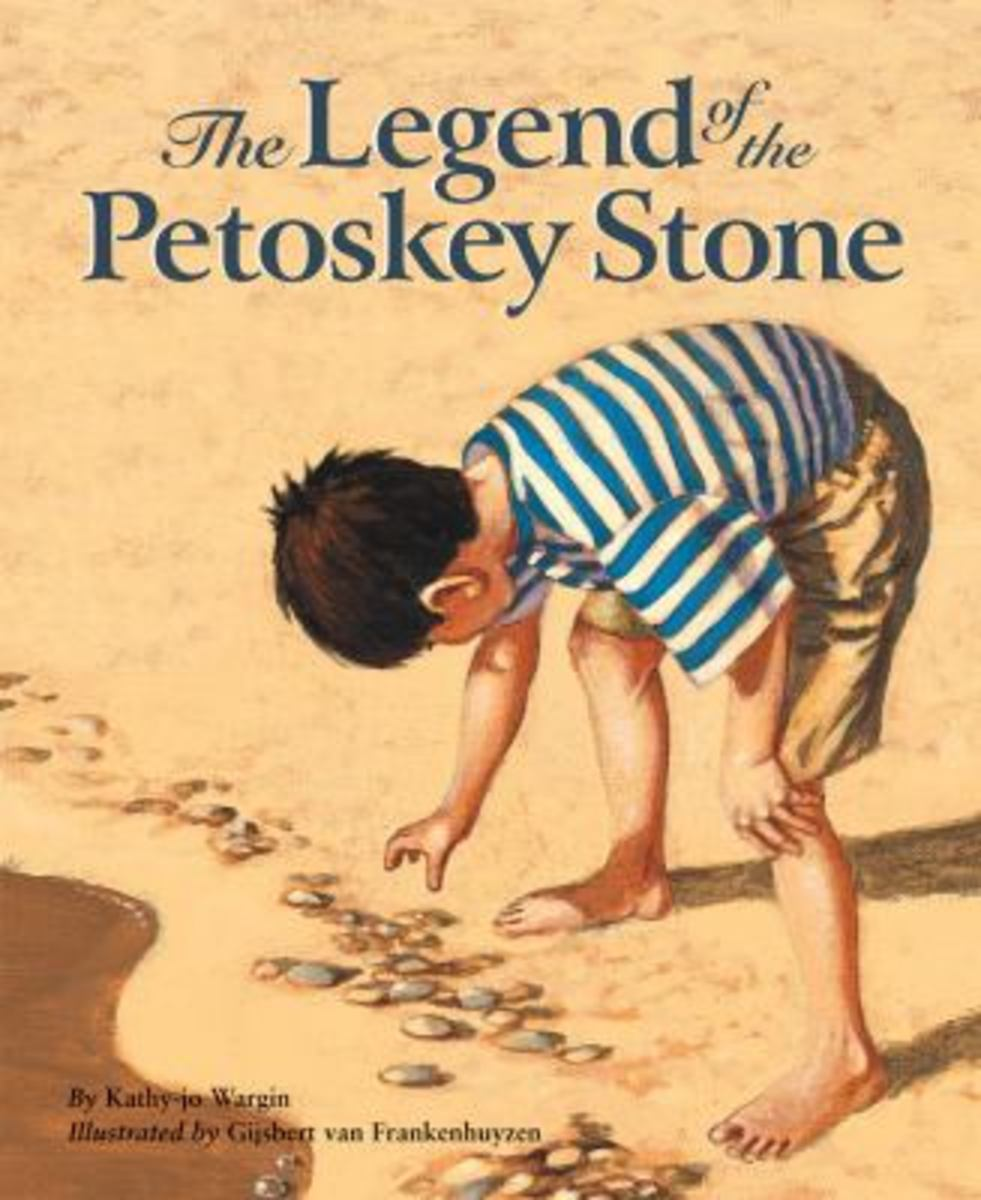The Legend of the Petoskey Stone (Myths, Legends, Fairy and Folktales) by Kathy-jo Wargin (This image is from betterworldbooks.com.)
