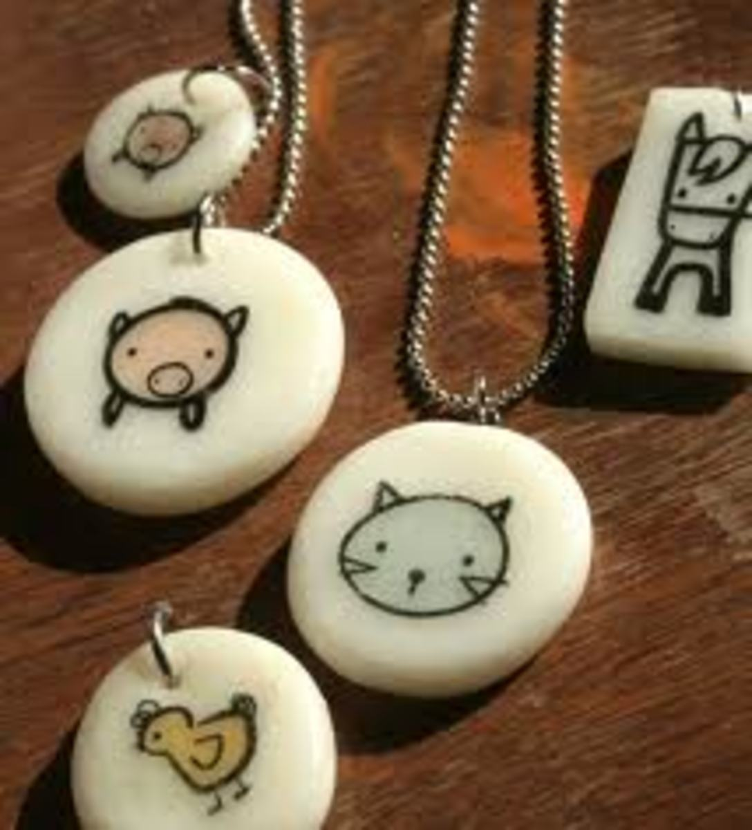 P0LYMER CLAY PENDANT NECKLACES ALSO MAKE GREAT GIFTS!