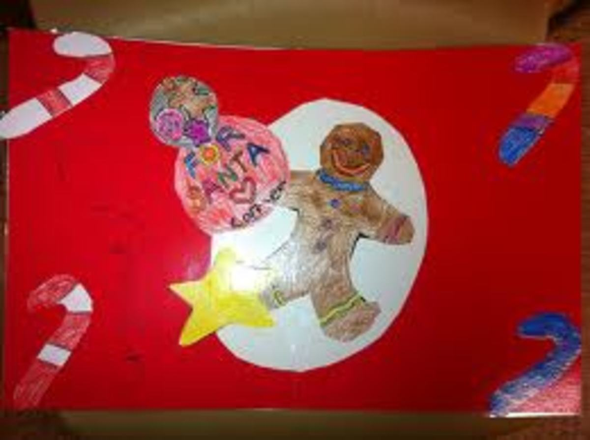 A SPECIAL PLACE-MAT FOR SANTA'S COOKIES AND MILK