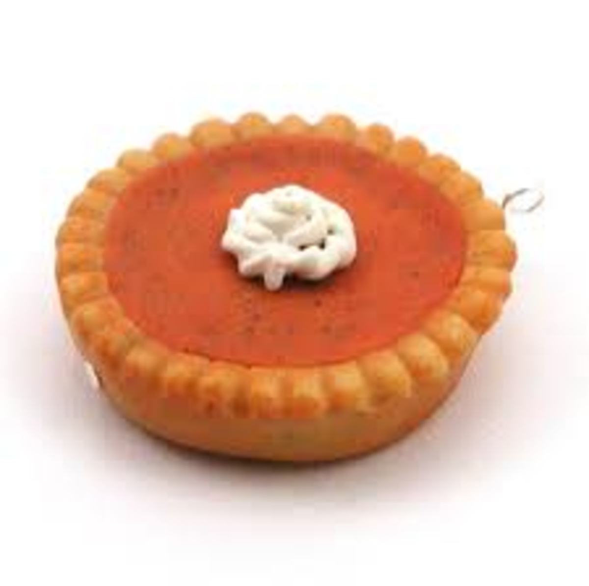 YUMMY PUMPKIN PIE MADE OUT OF POLYMER DOUGH