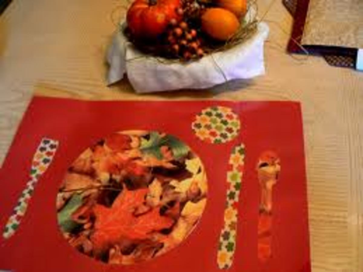 PERFECT PLACE-MAT FOR THANKSGIVING!