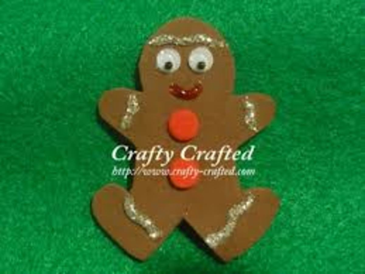 GINGERBREAD FOAM MAGNET
