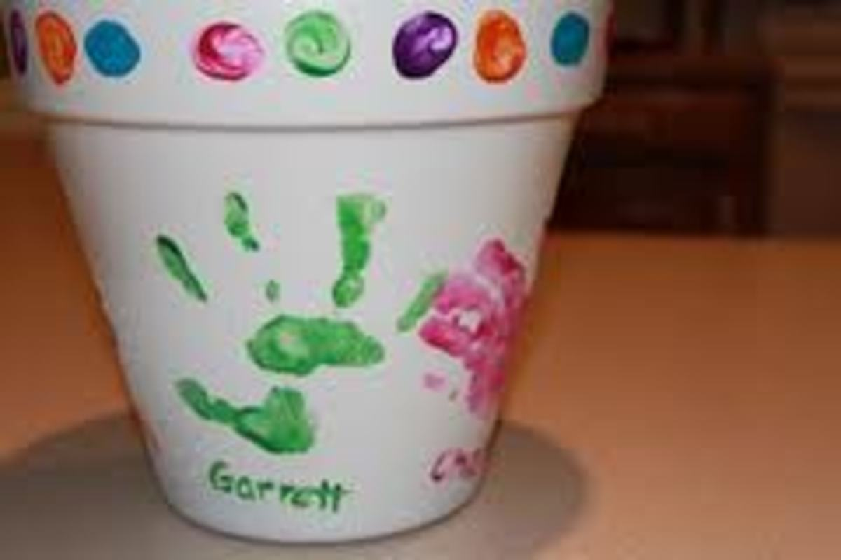 A DECORATED FLOWER POT ALSO MAKES A GREAT GIFT!