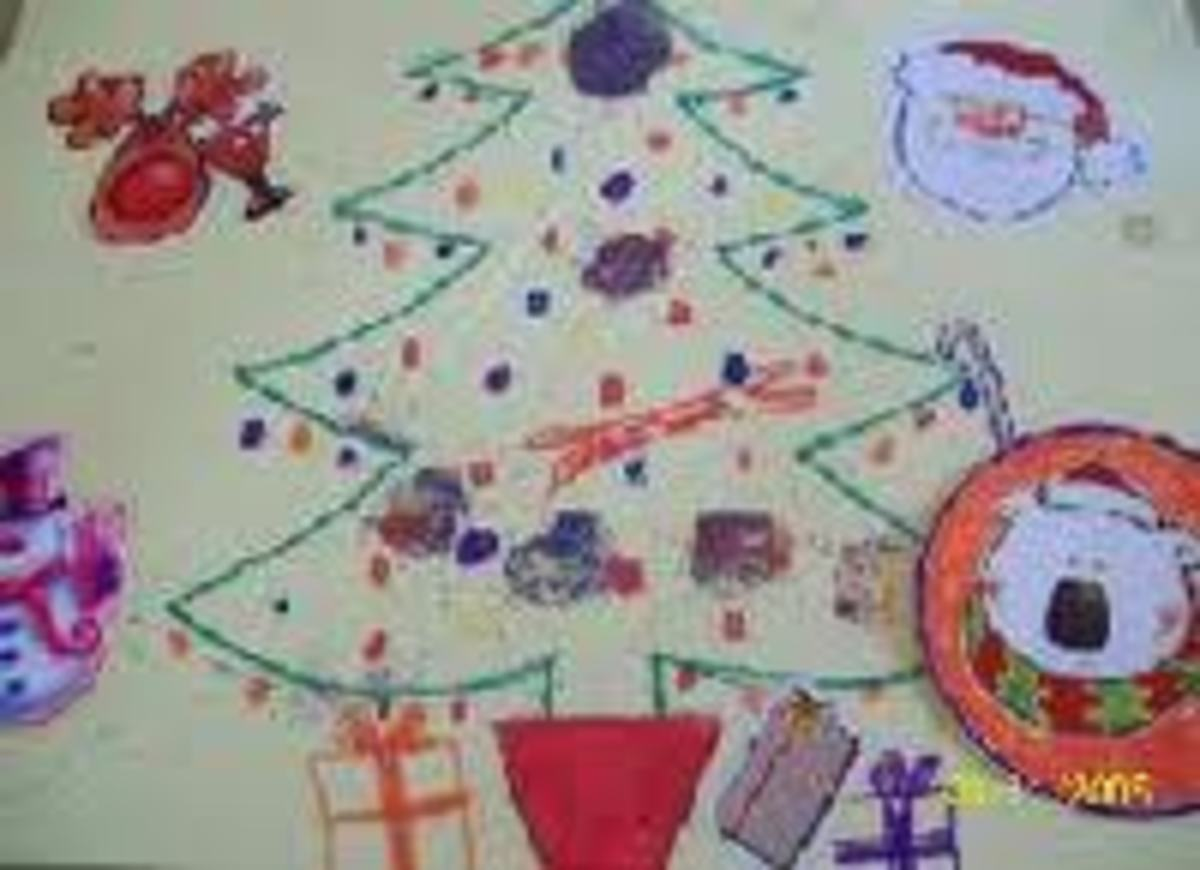 CHILD-MADE CHRISTMAS TREE PLACEMAT