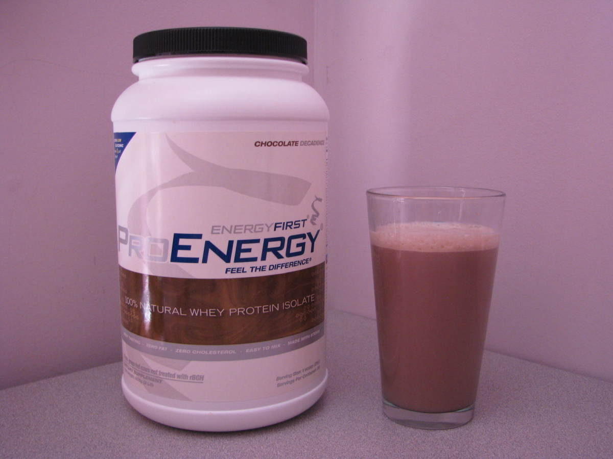 2 lb. container of Energy First Pro Energy Shake mix.