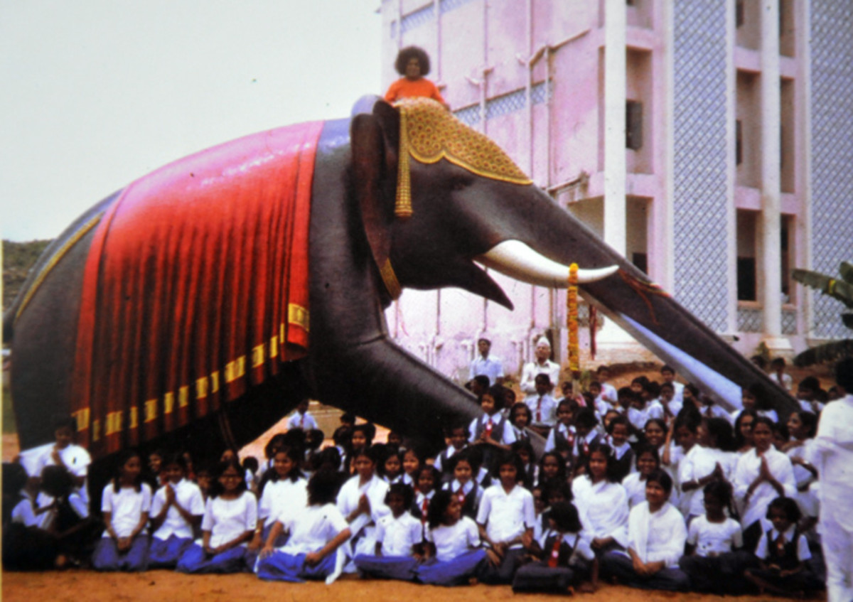 Swami had visited the Primary school even to inaugurate the new 'elephant slide'!