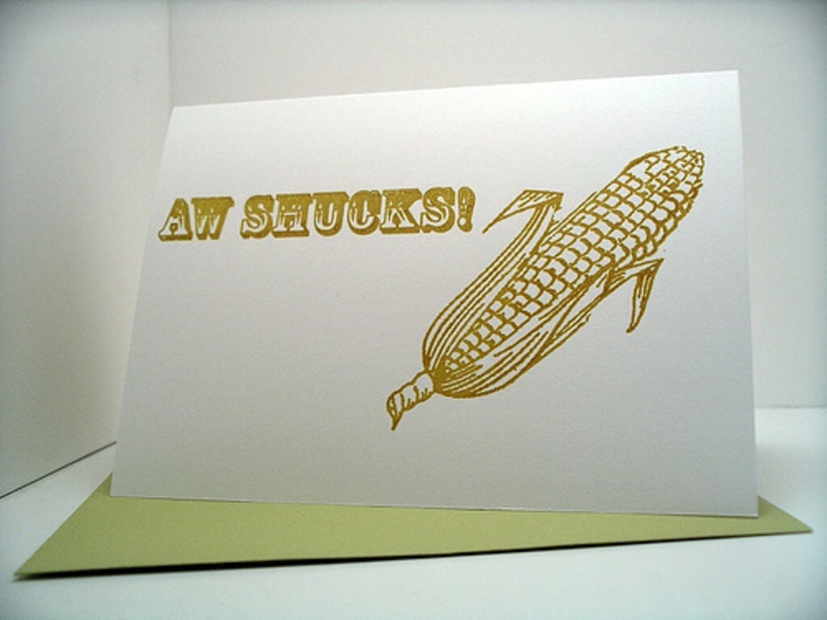 Screen printed card.