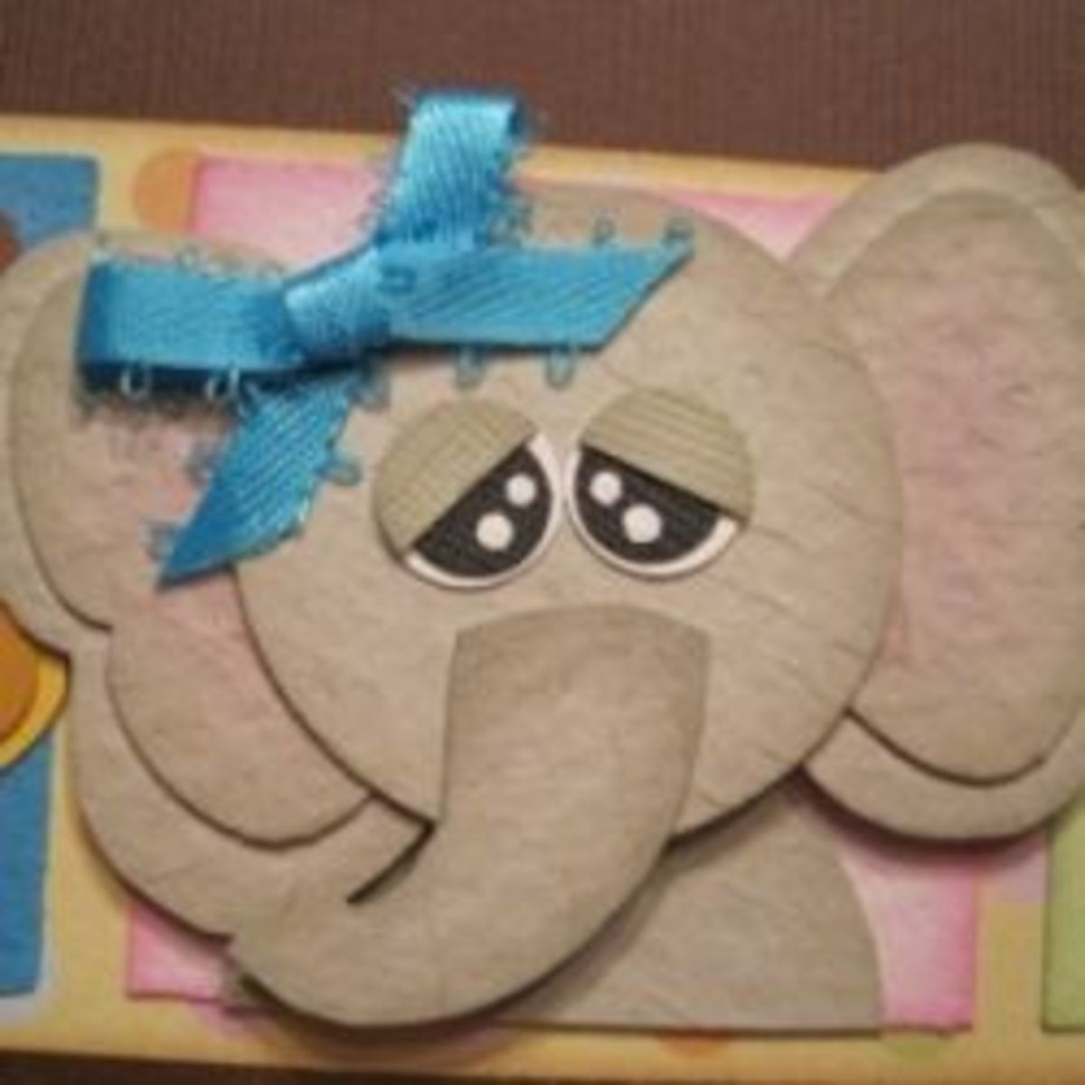 Baby Elephant Baby Shower Card