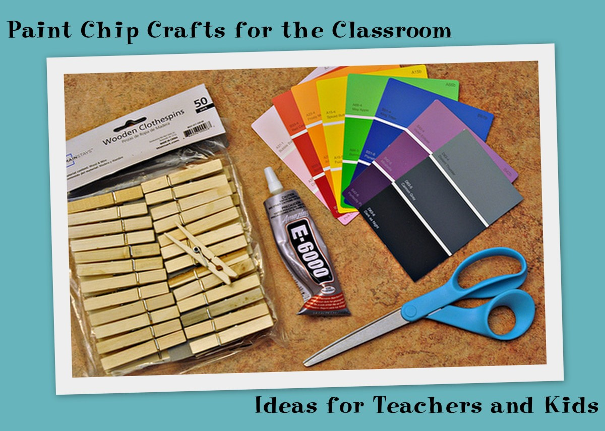 paint sample crafts paint chip crafts for the classroom ideas for teachers 2594