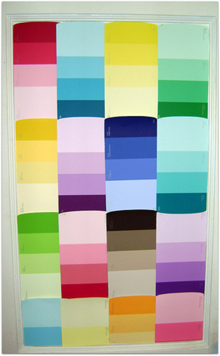Paint chips can be used for all sorts of classroom decor.