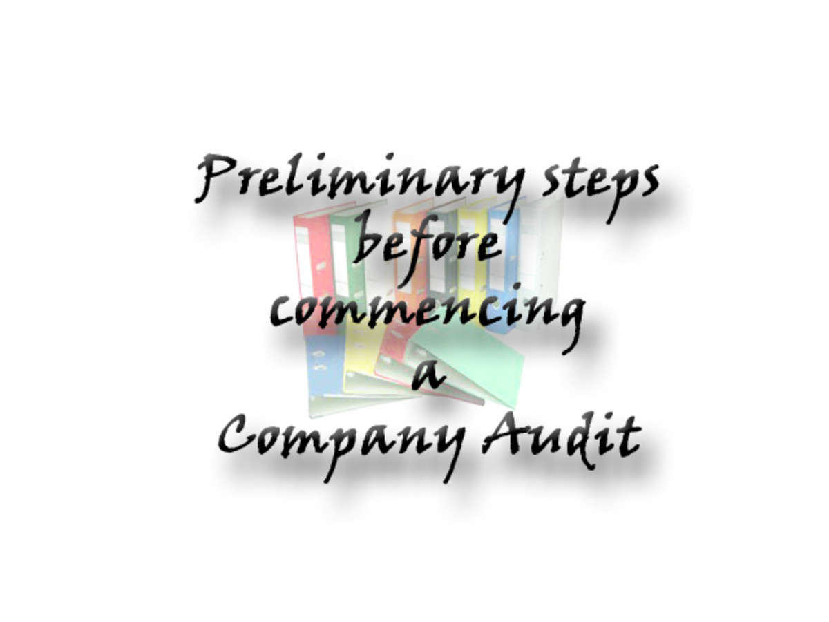 Preliminary steps before commencing a Company Audit