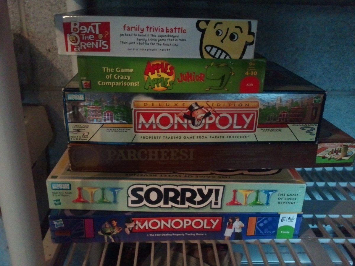Organizing Board Games for More Shelf Space