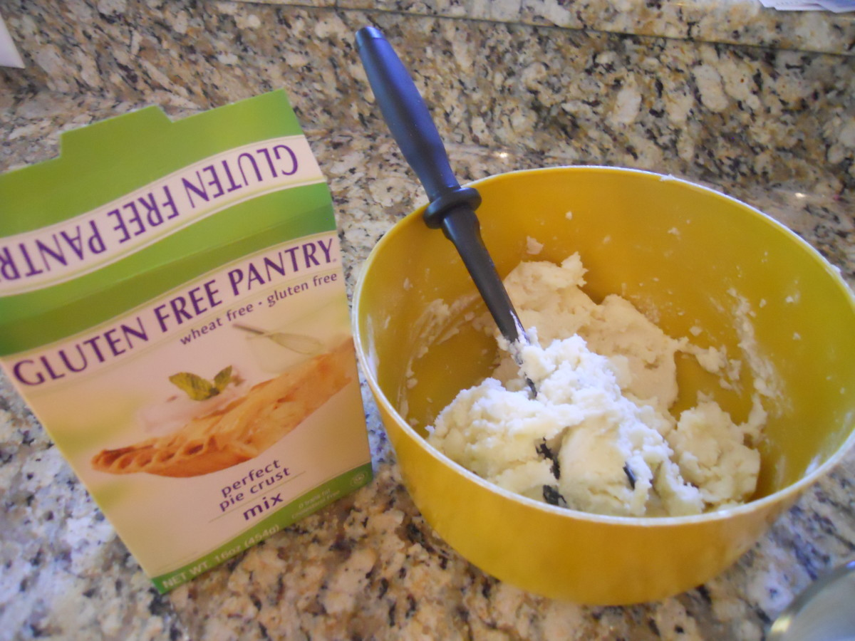 Use a gluten free pie crust mix or frozen ready made crust