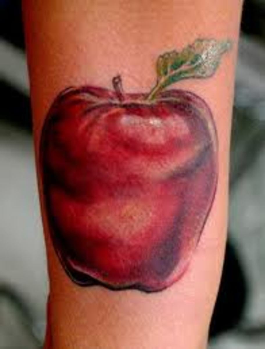 Apple Tattoos And Designs-Apple Tattoo Meanings And Ideas-Apple Tattoo Pictures