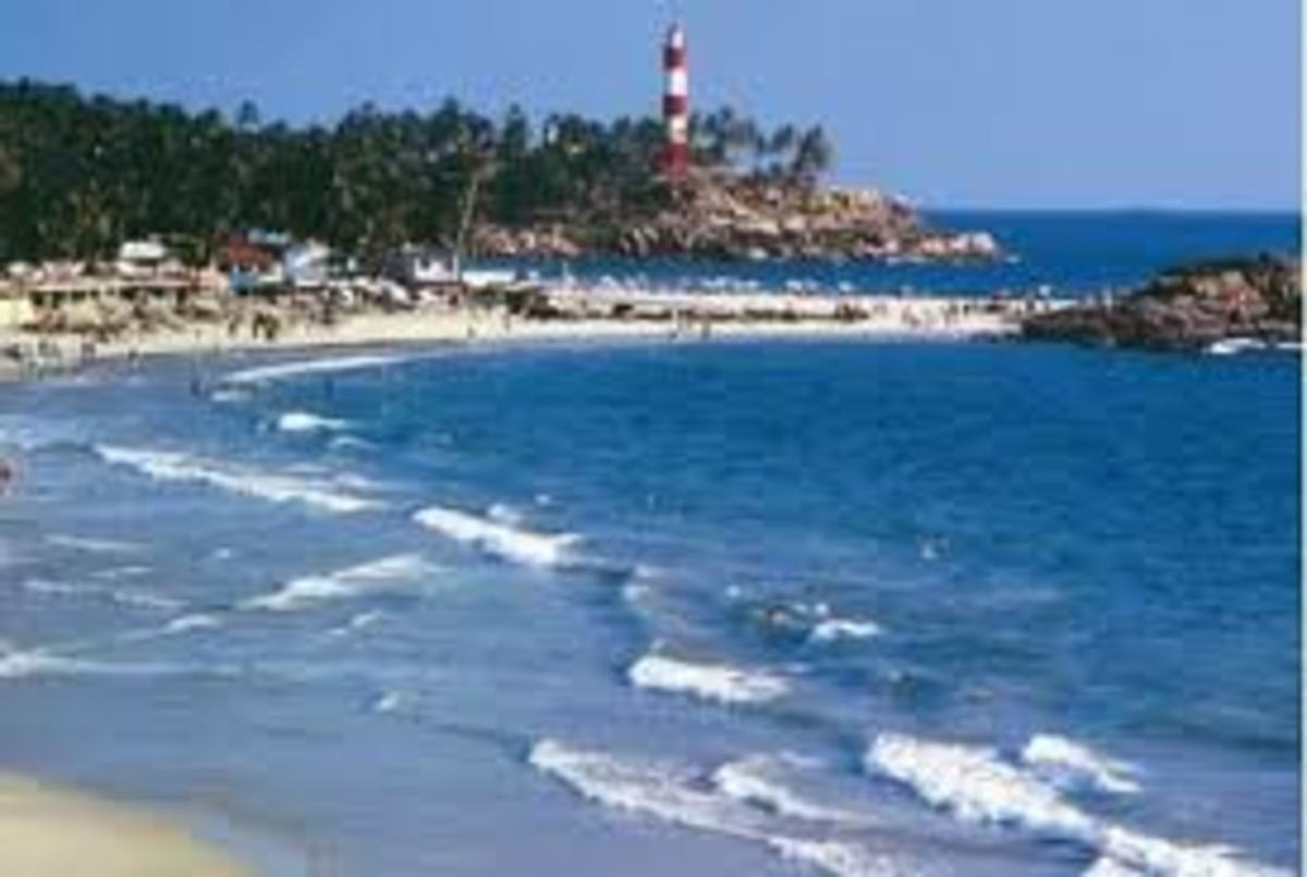The world famous Kovalam Beach in Thiruvananthapuram