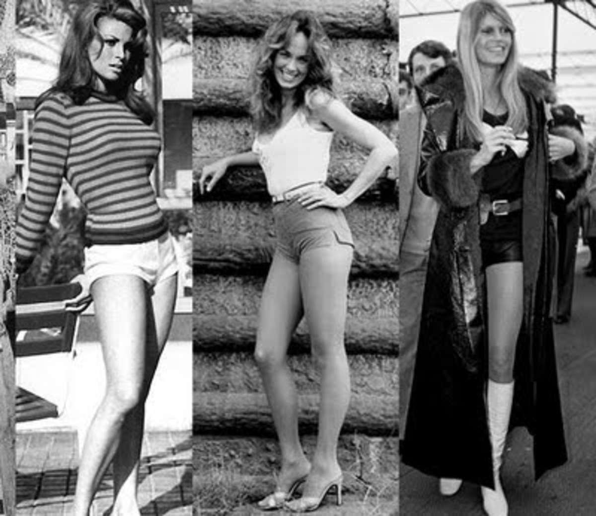 Raquel Welsh, Catherine Bach, and Brigitte Bardot