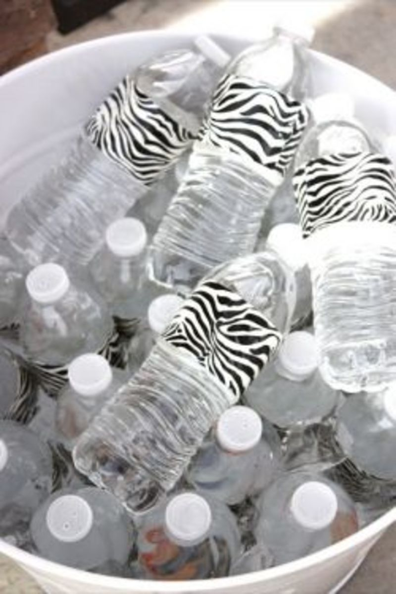 Add duct tape to your water bottles