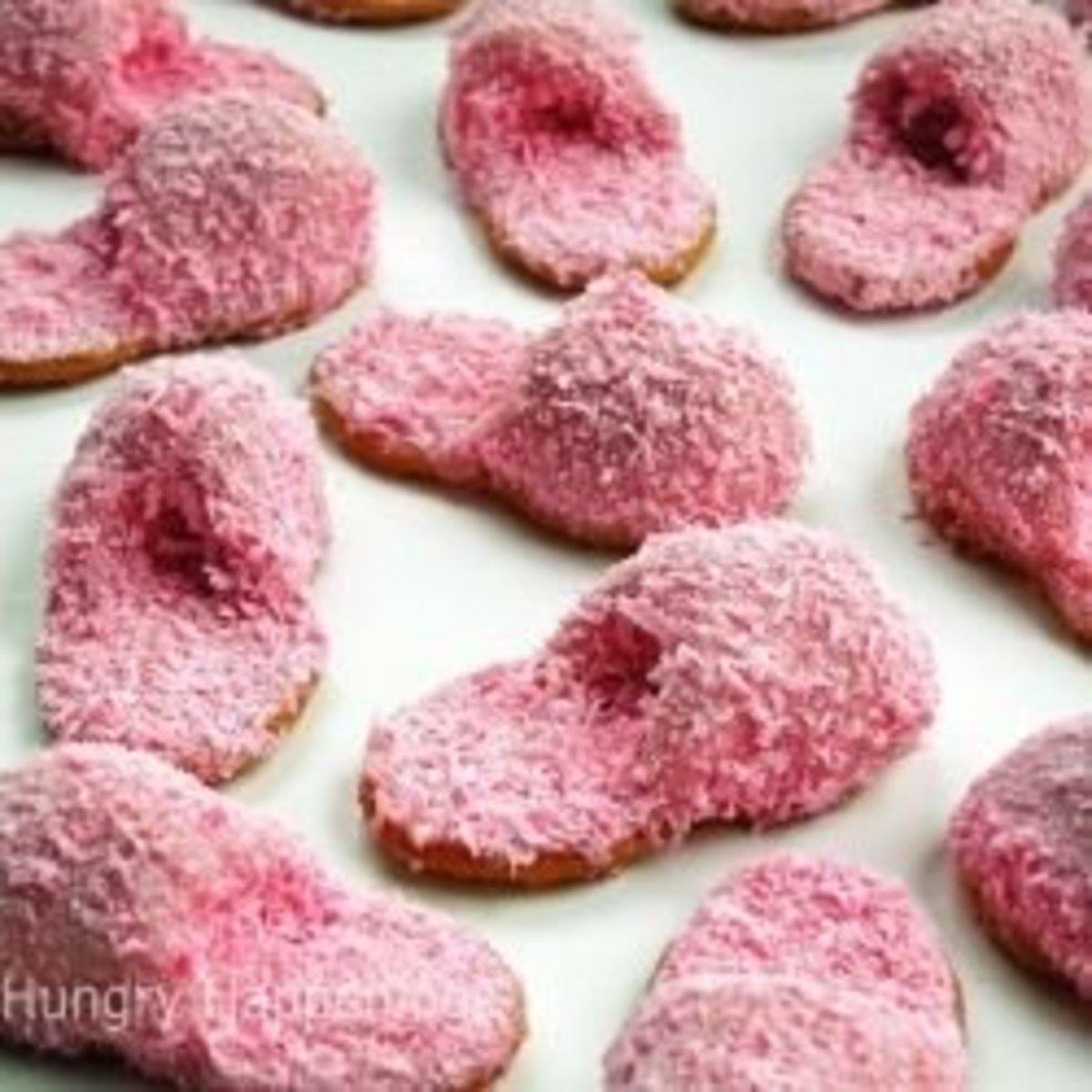 Pajama slipper cookies