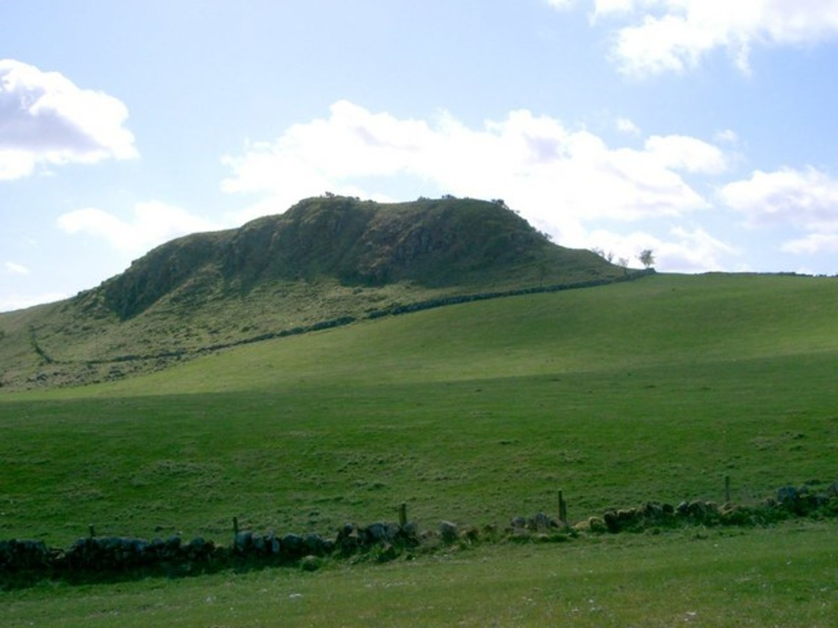 The rocky outcrop is Dunmore Hill. In Pictish times this was also the site of a hill fort.