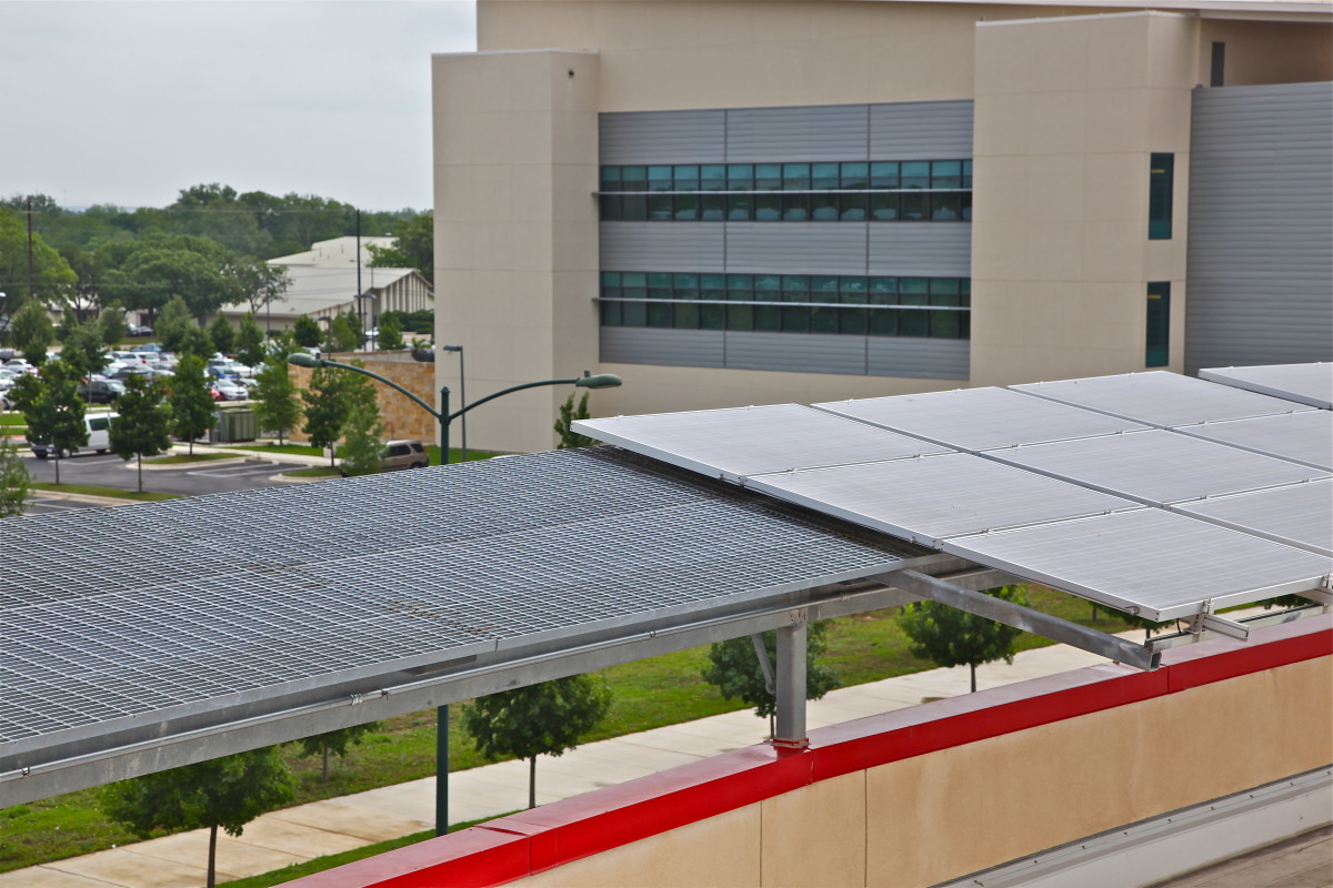 Solar panels on Ronald McDonald House in Austin, Texas.