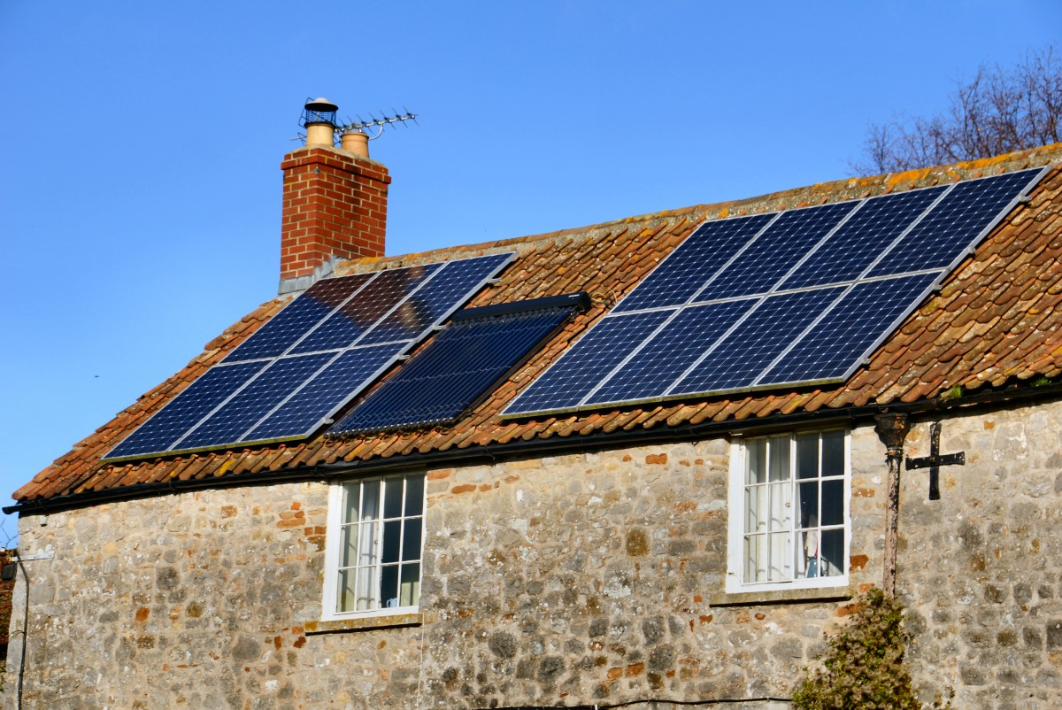 The roof is a common place to install solar panels; plenty of surface and easy access to the dwelling or building.