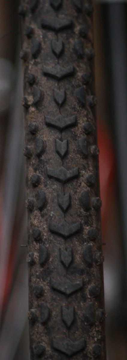 A typical all round cyclocross tire like these Challenge Grifo Pro's will tackle most race conditions. From soft muddy fields to woodland singletrack.