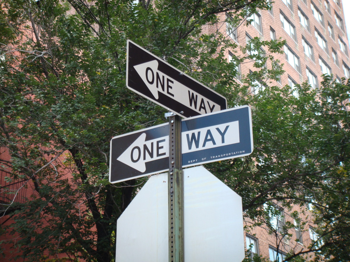 Two one-way streets. One leads to success, the other to failure. Which will you choose?