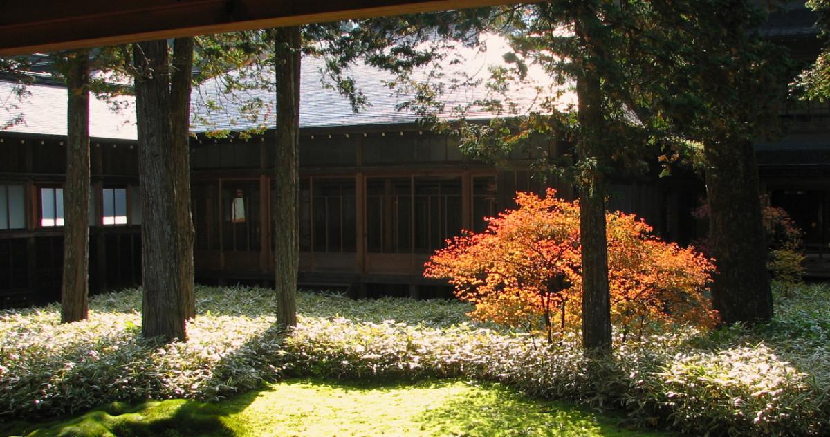 Soon after sunrise, Tamozawa Imperial Villa, Nikko, Japan.