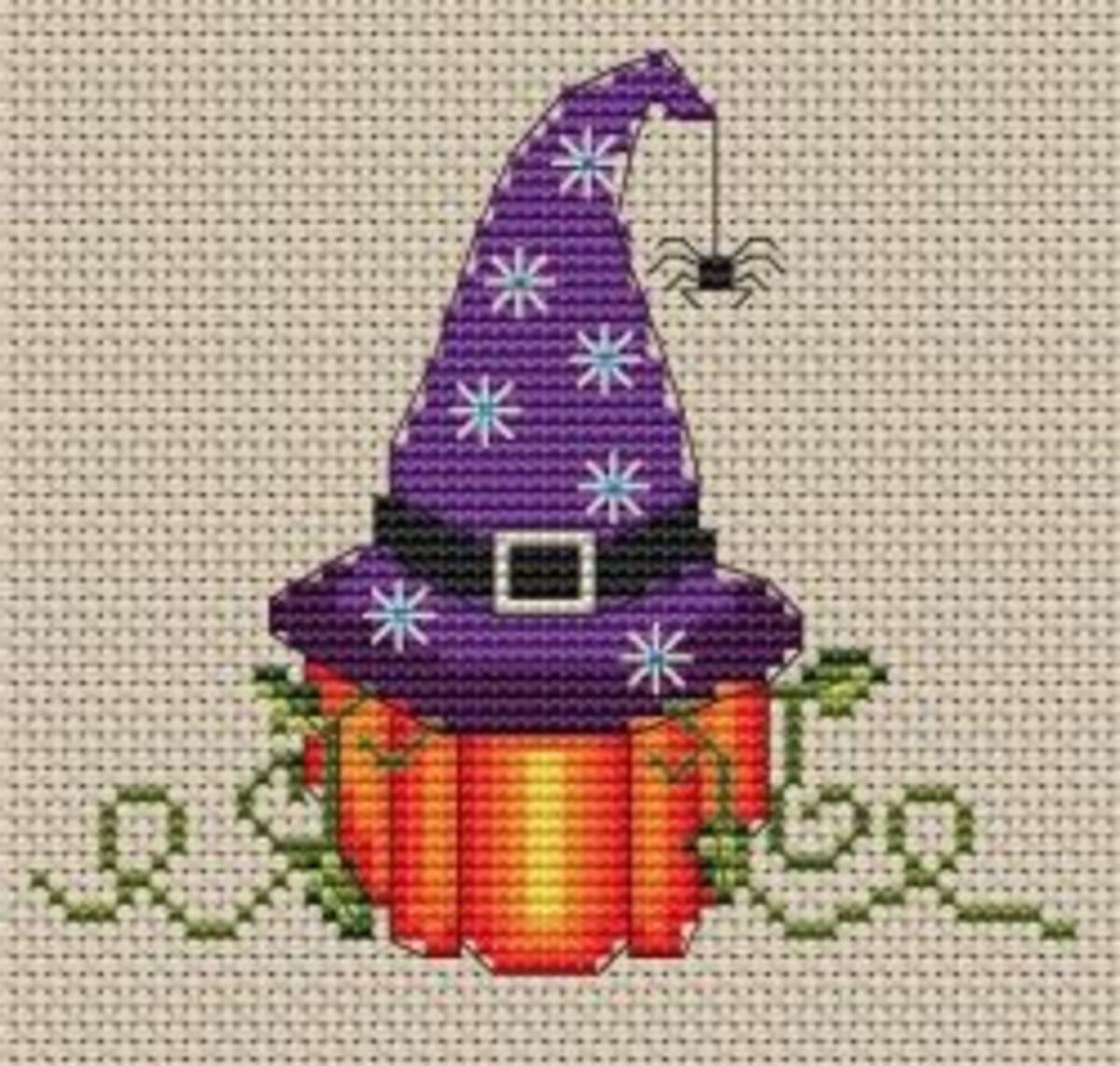 Cross Stitch Witch Hat