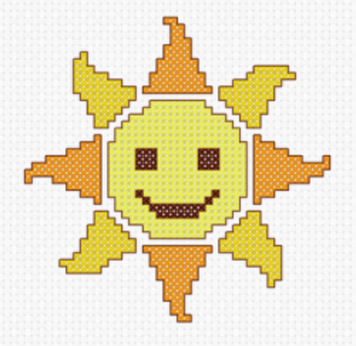Sun Cross Stitch