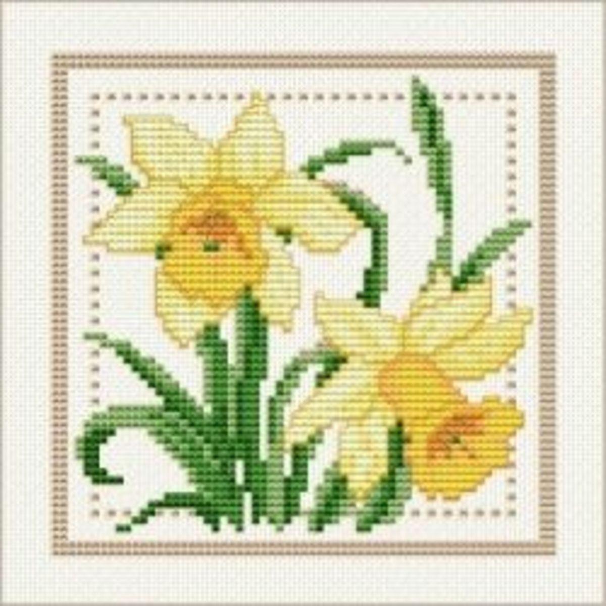 Cross Stitch Daffodils