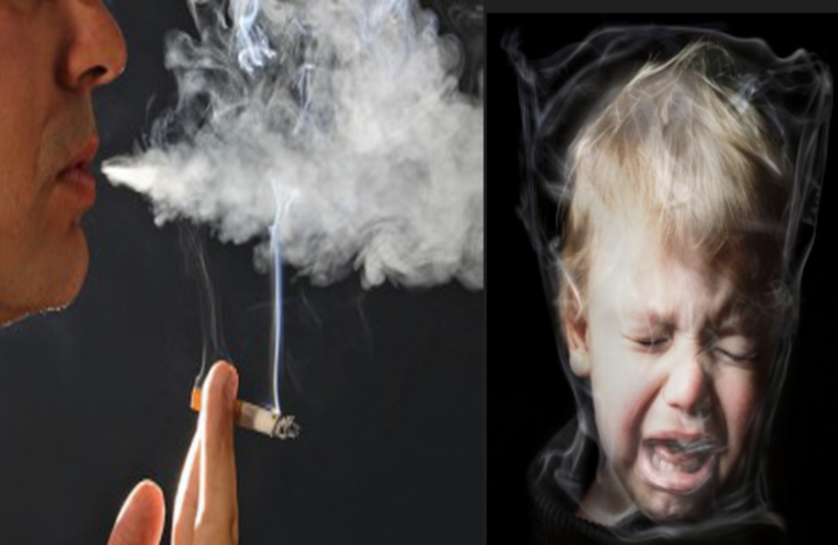 Kids suffer from passive smoking problems that they get from their parents. Listen to your partner and stop smoking now.