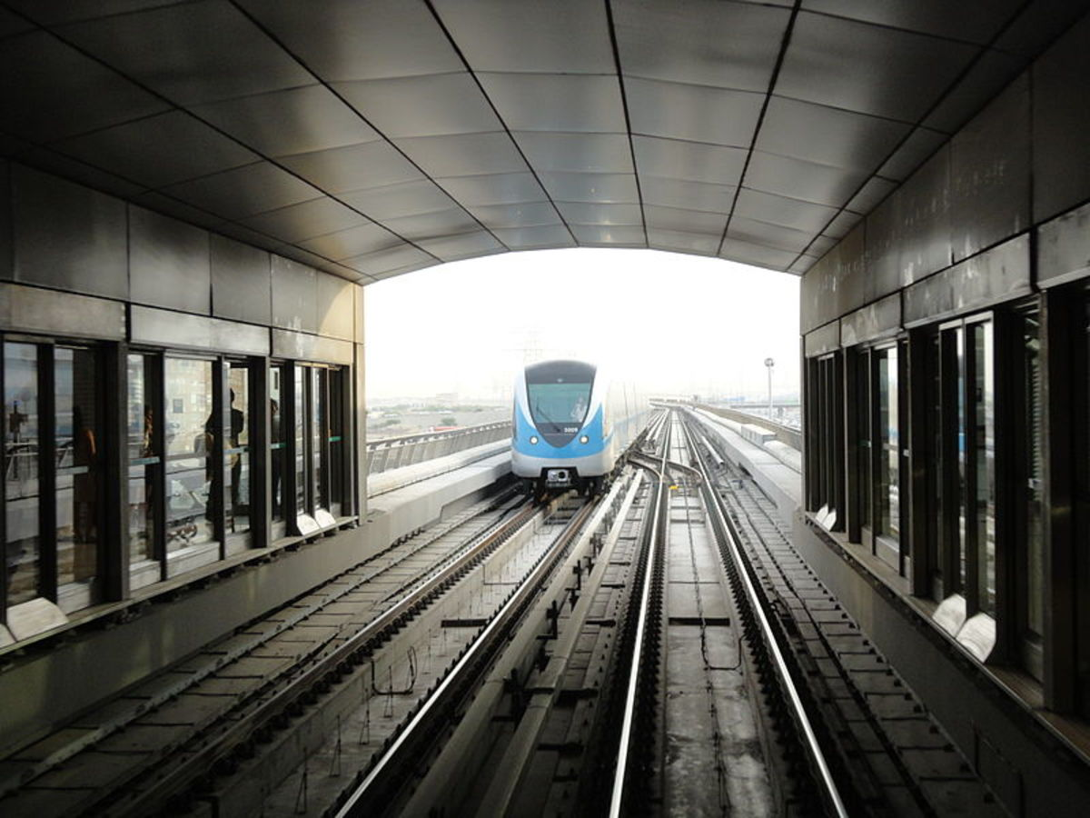 Dubai Metro Station on the Red Line