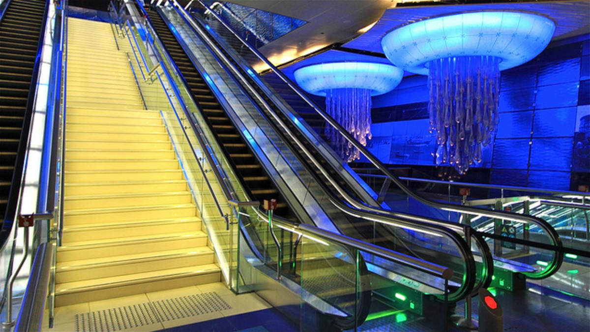 Dubai's Khalid Bin Al Weleed Metro Station