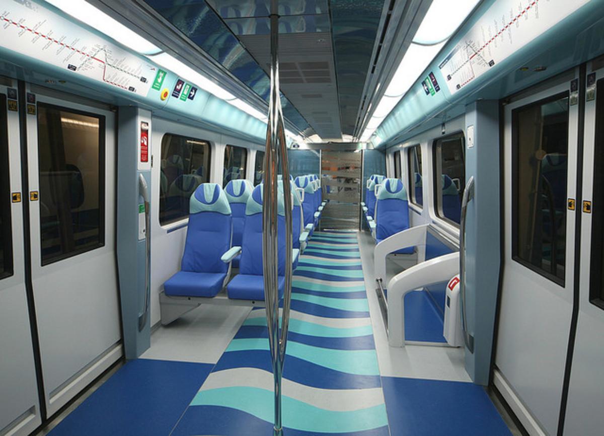 Dubai Metro Train Interior