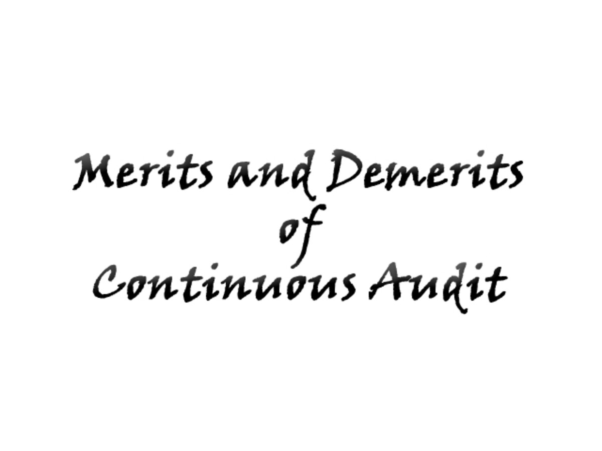 merits and demerits of continuous audit