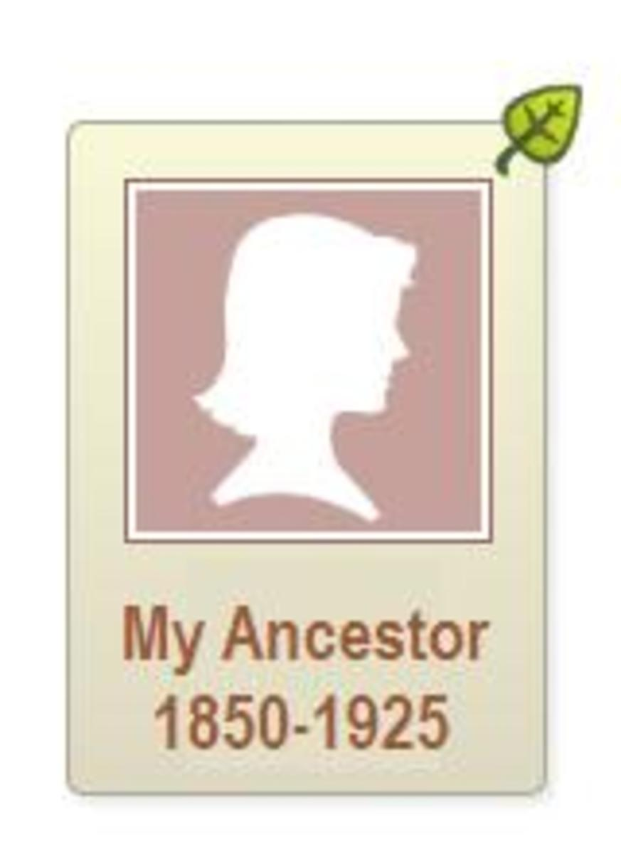 The green leaf is a hint that Ancestry found a possible match for that person.