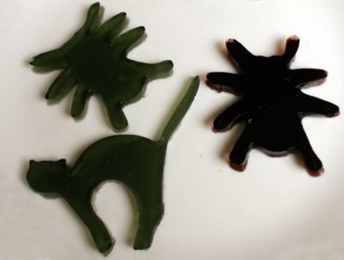 Black Jell-o Jigglers