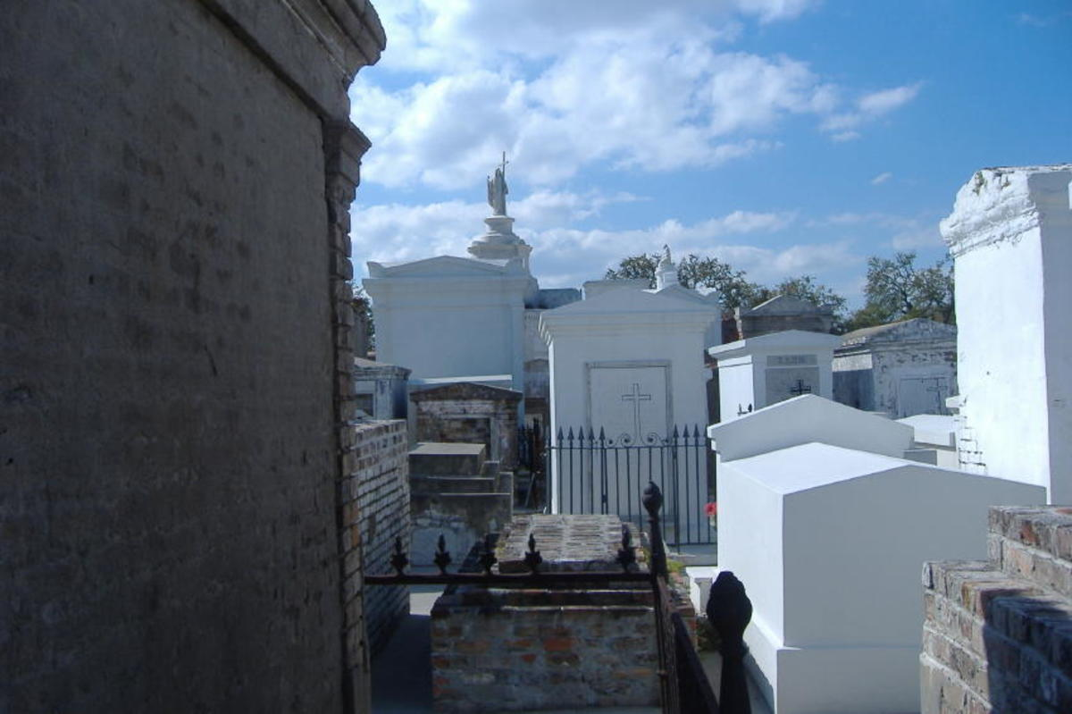 A cemetery in New Orleans, taken when our boys went down there with their fraternity to help the community clean and re-build after Hurricane Katrina.