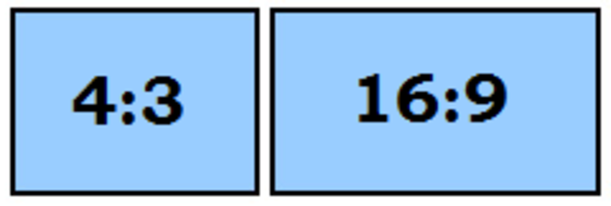 Figure 2. The two most common aspect ratios compared side by side. The aspect ratio in this case affects how wide the display is.