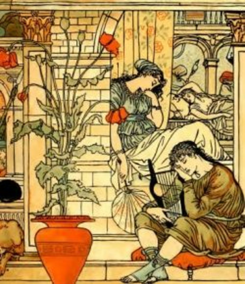 In winter everything sleeps (by Walter Crane)