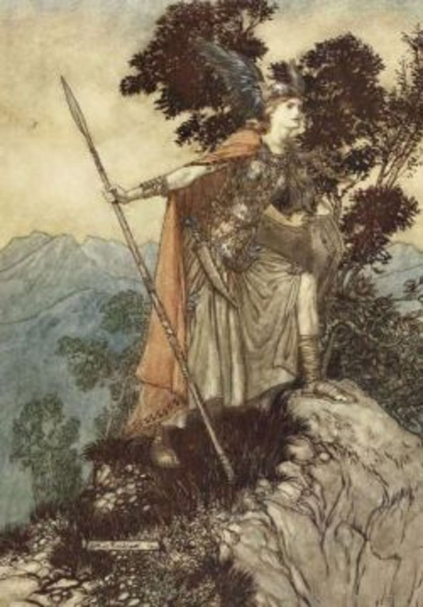 Brynhildr was a warrior! (by Arthur Rackham)