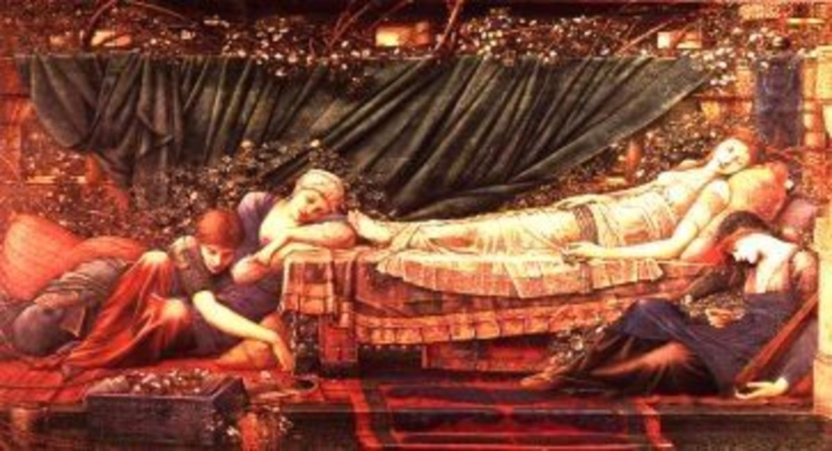 Sleeping (by Edward Coley Burne-Jones