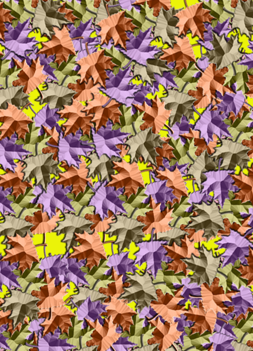 Colorful autumn leaves pattern.